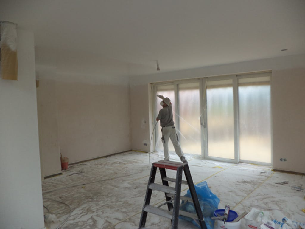 schilderen van het plafond